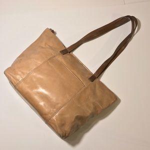 HOBO Chestnut Handle Tan Leather Tote Bag